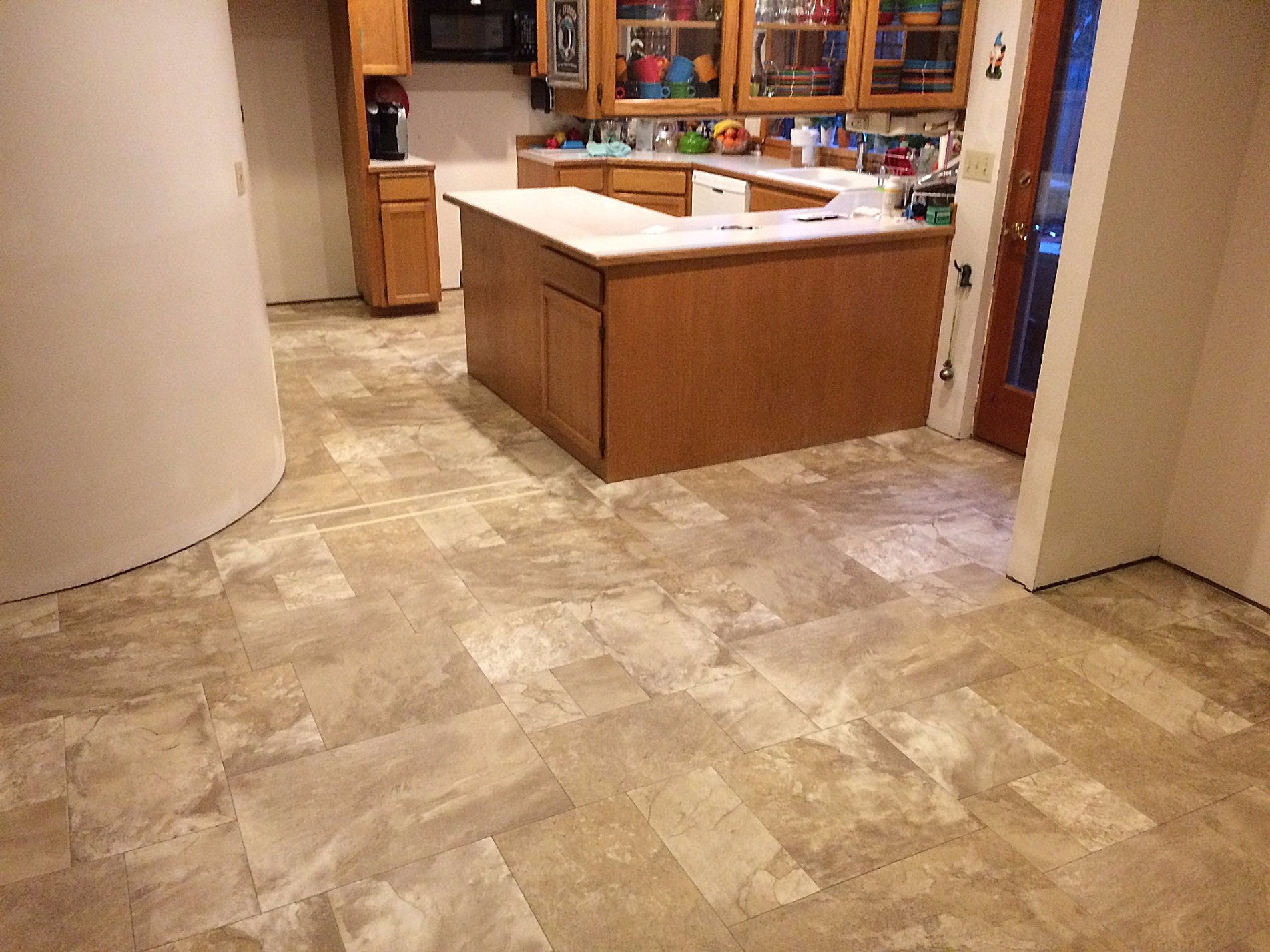 Vinyl Floor In Kitchen Vinyl Floor Installation Seattle Store