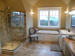 tile shower and bath floor