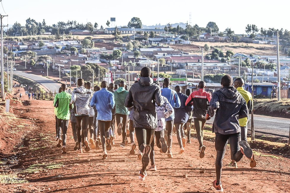 Runners in Iten, Kenya