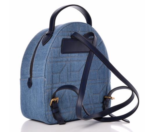 339146785f7b GUCCI Denim Matelasse Pearl Studded GG Marmont Backpack Blue. $ 1,795.00.  Fashionphile