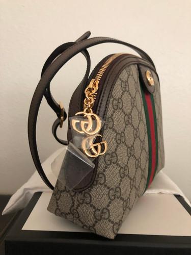 c879f6fb87d9 Gucci Linea Dragoni GG Supreme Canvas Small Shoulder Bag