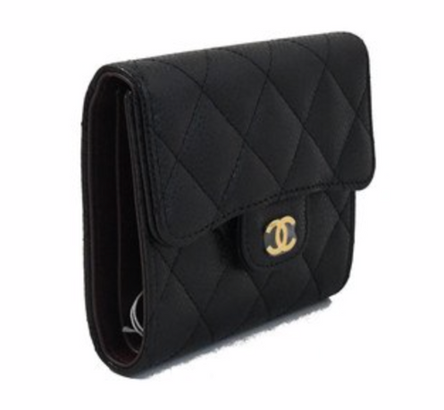 999395e5f7f6 Chanel Classic Caviar Leather Small Wallet Gold HW Black. $ 944.00. you can  also find it at