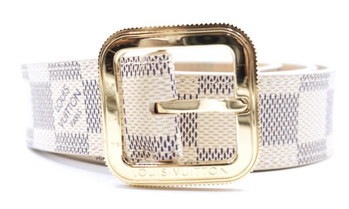 000ad4753c6c Louis Vuitton Damier Azur Gold Buckle Leather Size 80 32 Belt.   348.22.  Measurements Size  80 32