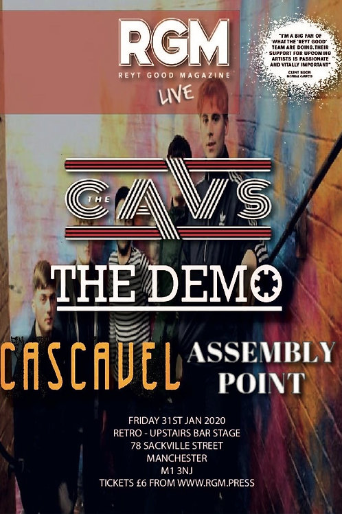 LIVE: Retro Manchester (Supporting The Cavs) 31/01/2020