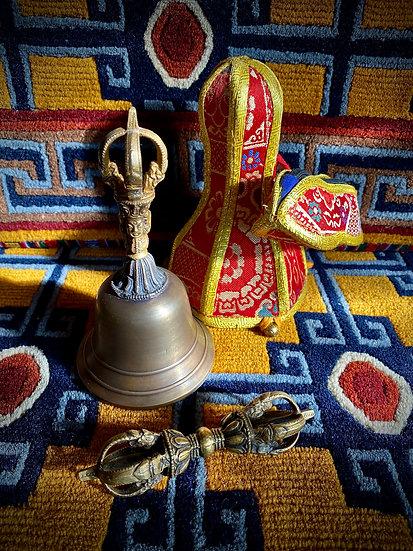 """Tibetan Bön-po Dril-bu Set - 7"""""""