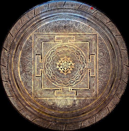 """28"""" (70cm) Nepalese Singing Gong - Chau (Tam Tam) - Master Etching"""