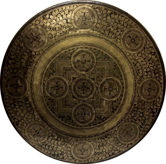 """40"""" (100cm) Nepalese Singing Gong - Wind (Feng) - Master Etching"""