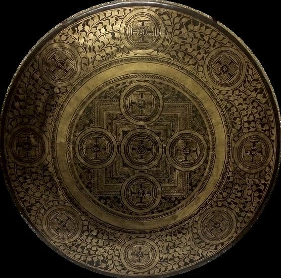 """40"""" (100cm) Nepalese Singing Gong - Chau (Tam Tam) - Master Etching"""