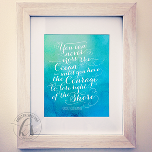 Typography Quote Watercolor Print