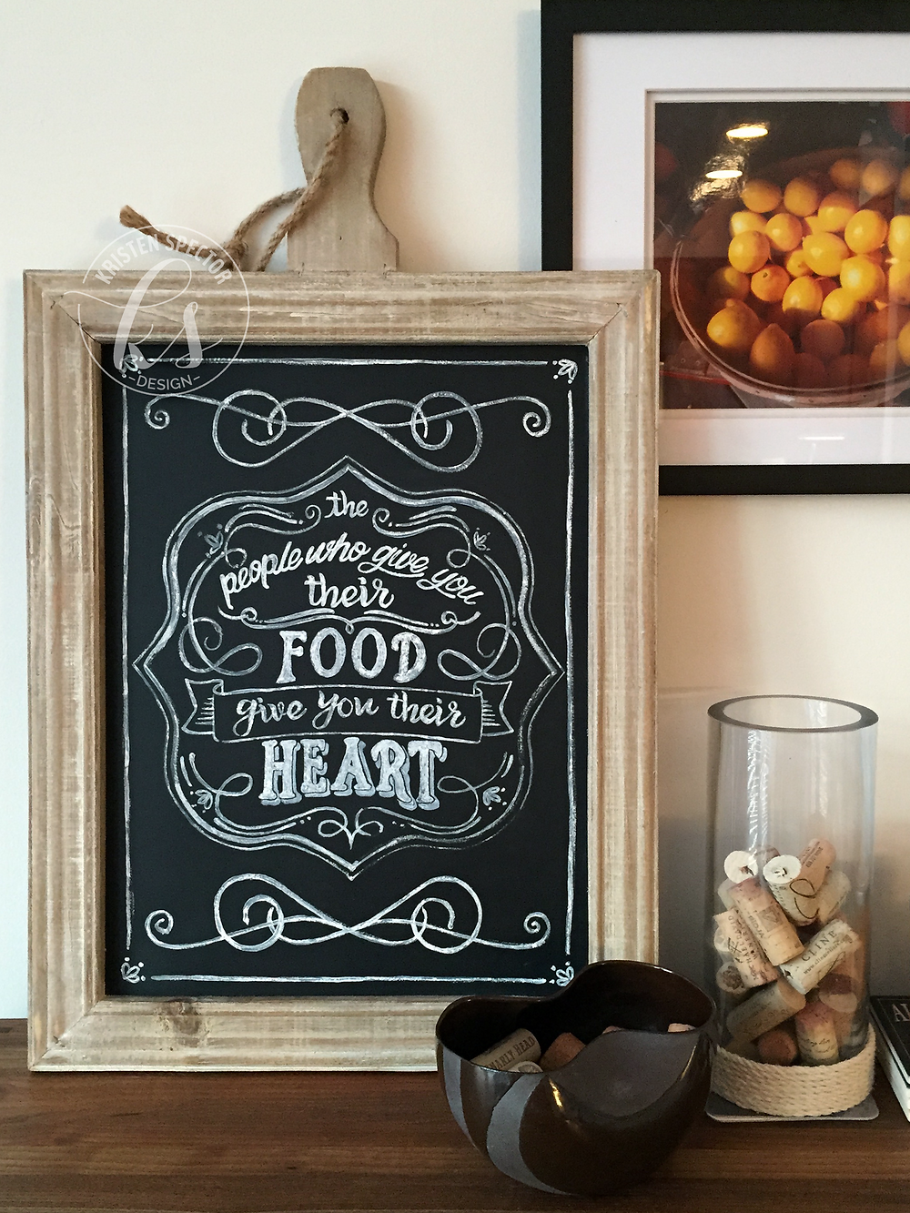 100 Crafty Days, Day 59 Hand Lettered Chalkboard Art