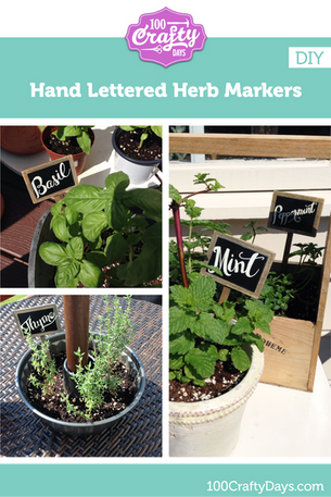 DIY - Hand Lettered Herb Markers