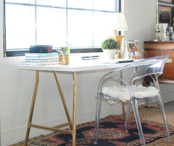 100 Crafty Days, Day 9 Ikea Craft Table Hack