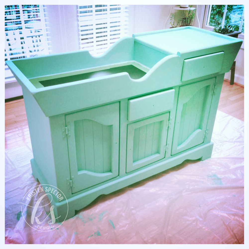 100 Crafty Days, Day 52 Dry Sink Makeover