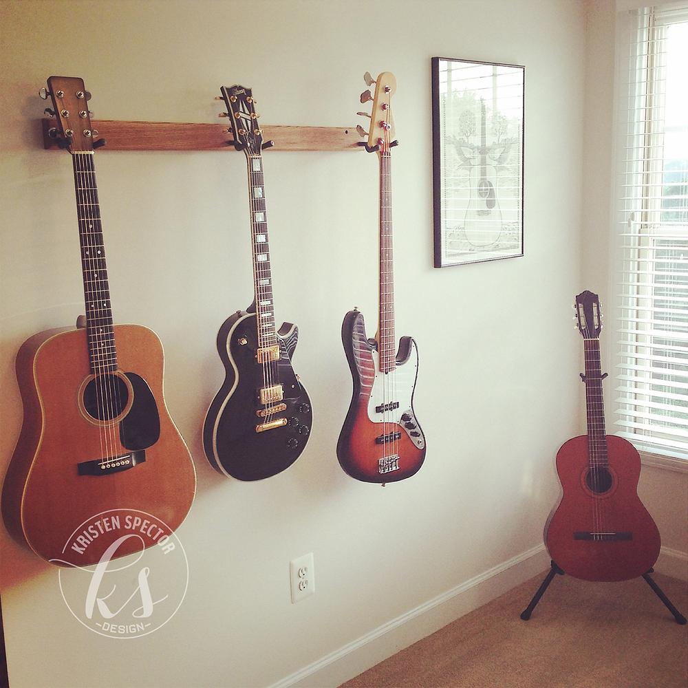 100 Crafty Days, Day 10 Guitar Rack DIY