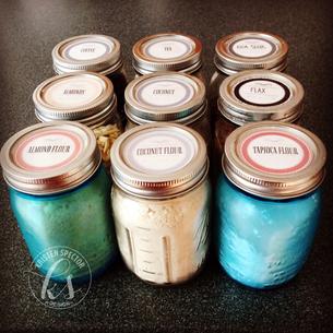 DIY - An Organized Kitchen: Mason Jar Label