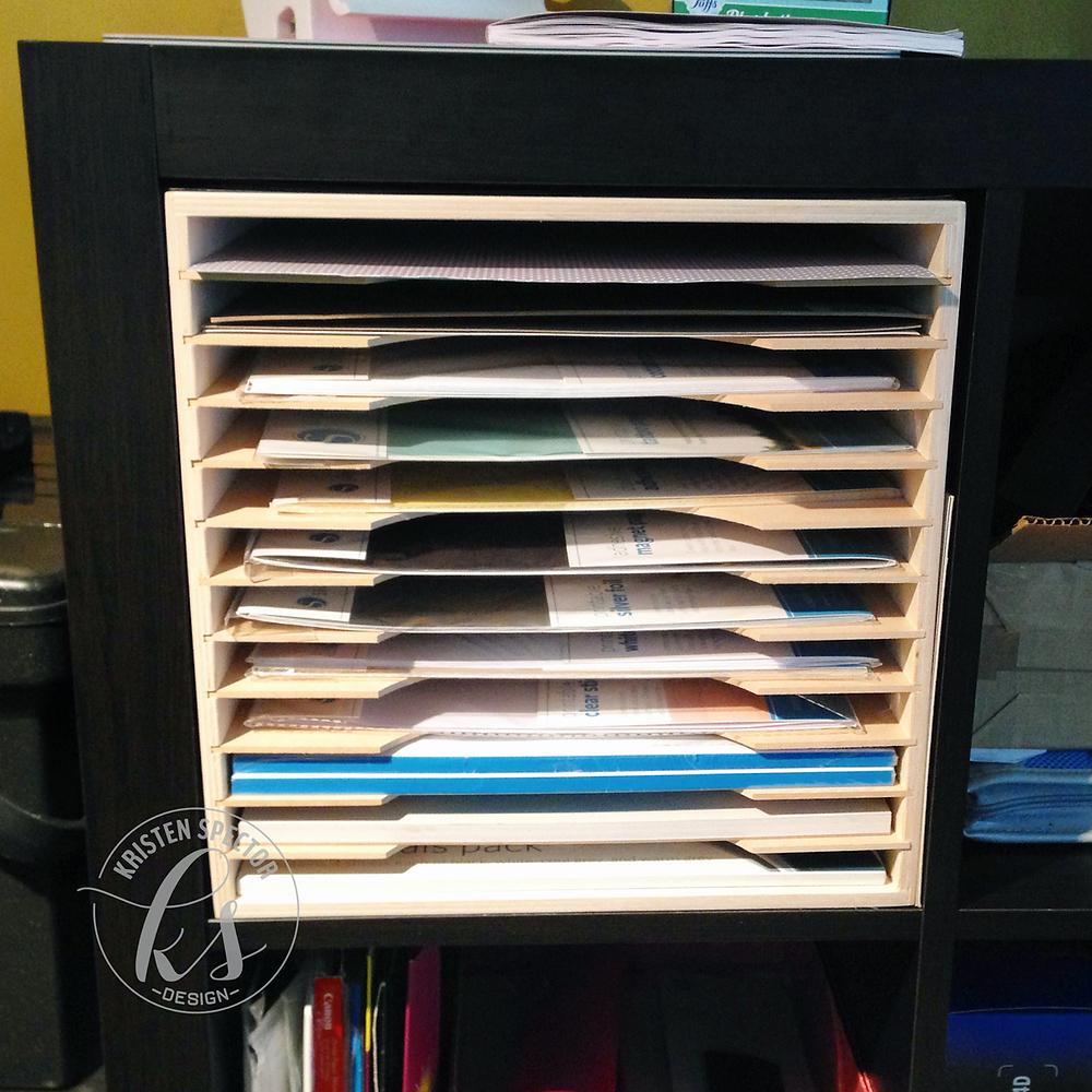 100 Crafty Days, Day 27 IKEA Paper Storage