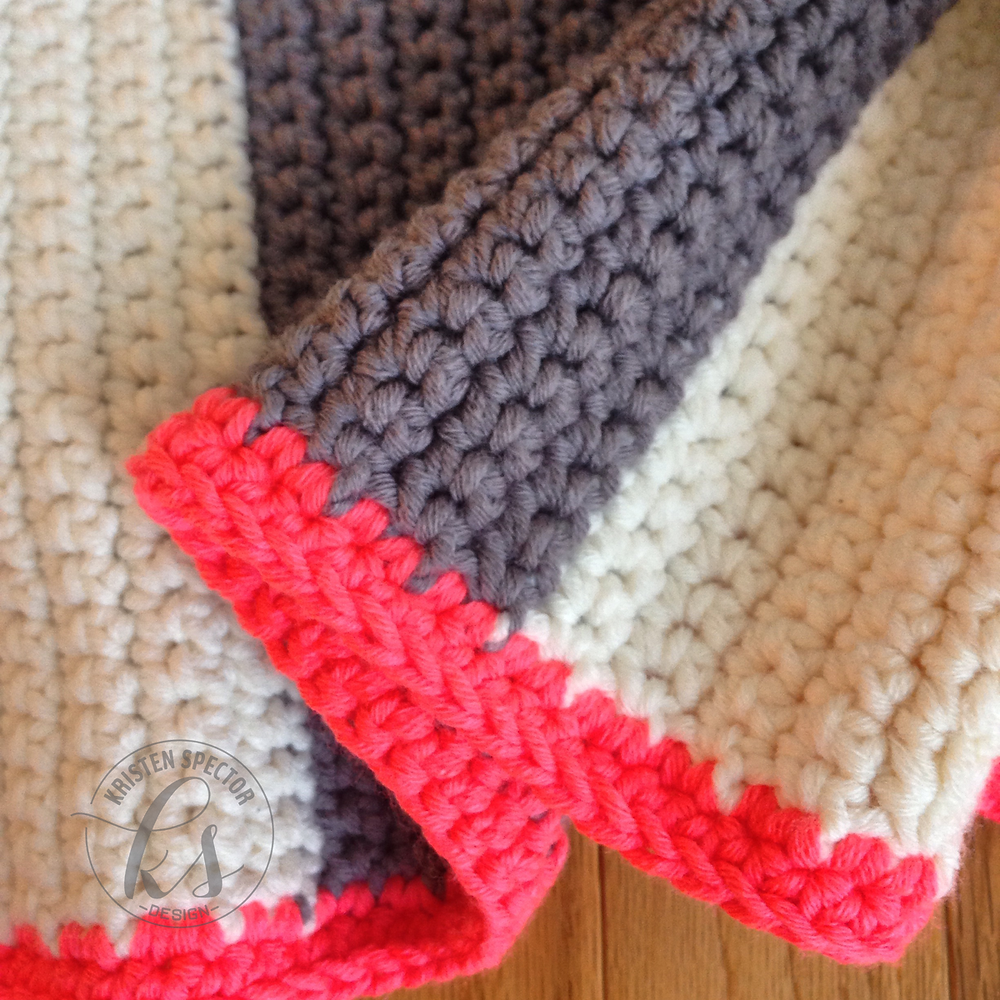 100 Crafty Days, Day 33 Crochet Blanket