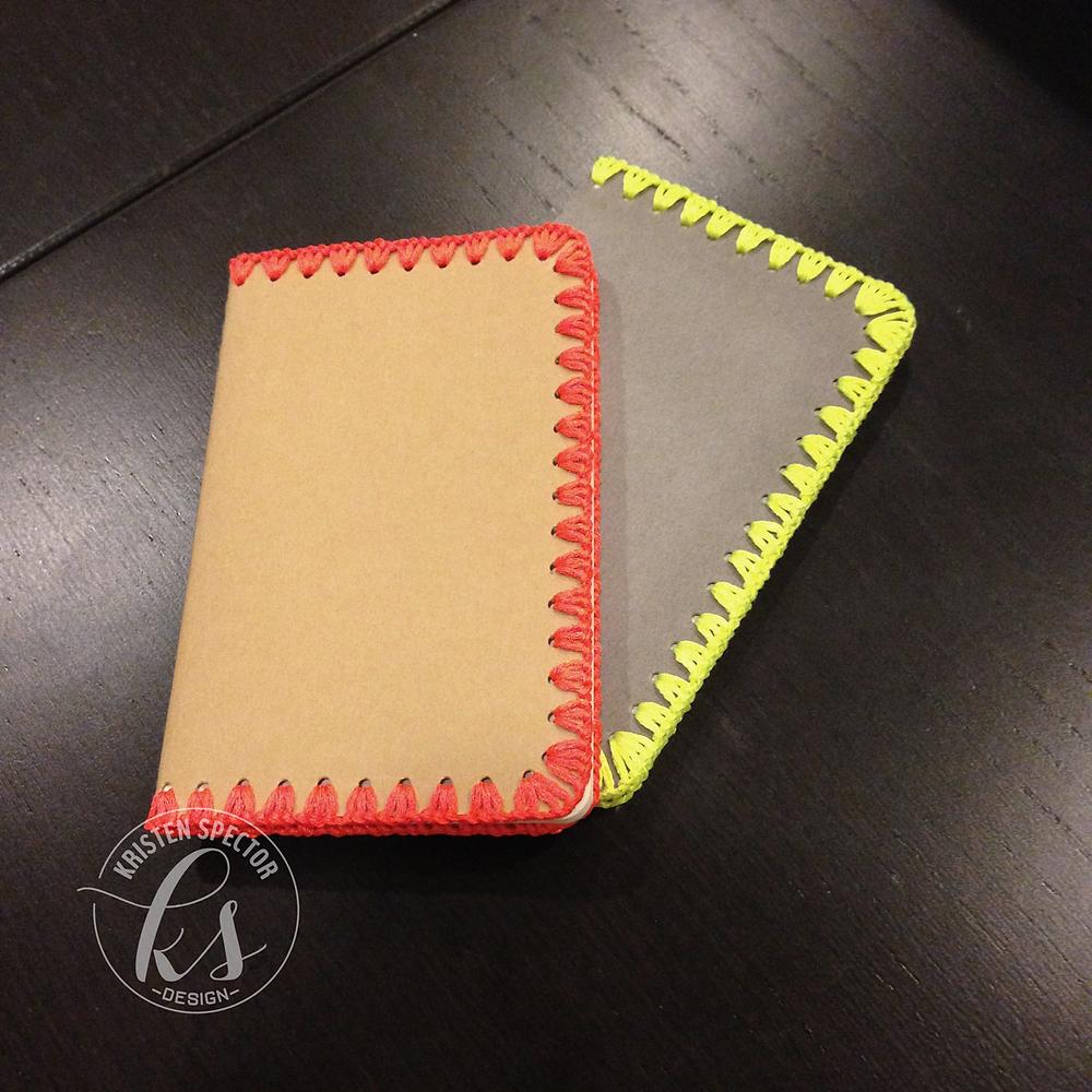 100 Crafty Days, Day 26 Crocheted Moleskine Notebooks