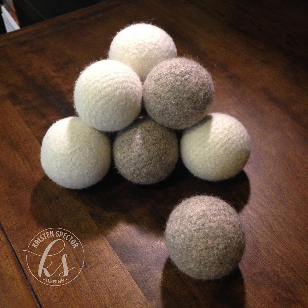 100 Crafty Days, Day 36 Amigurumi Dryer Balls