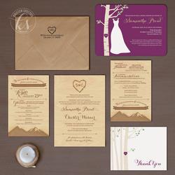 Rustic VT Wedding Invitation Suite