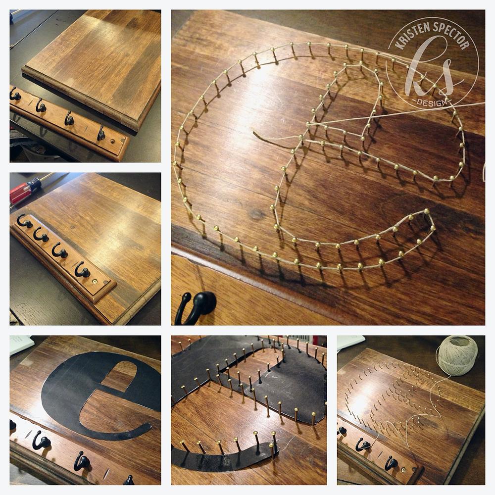 100 Crafty Days, Day 49 String Art DIY