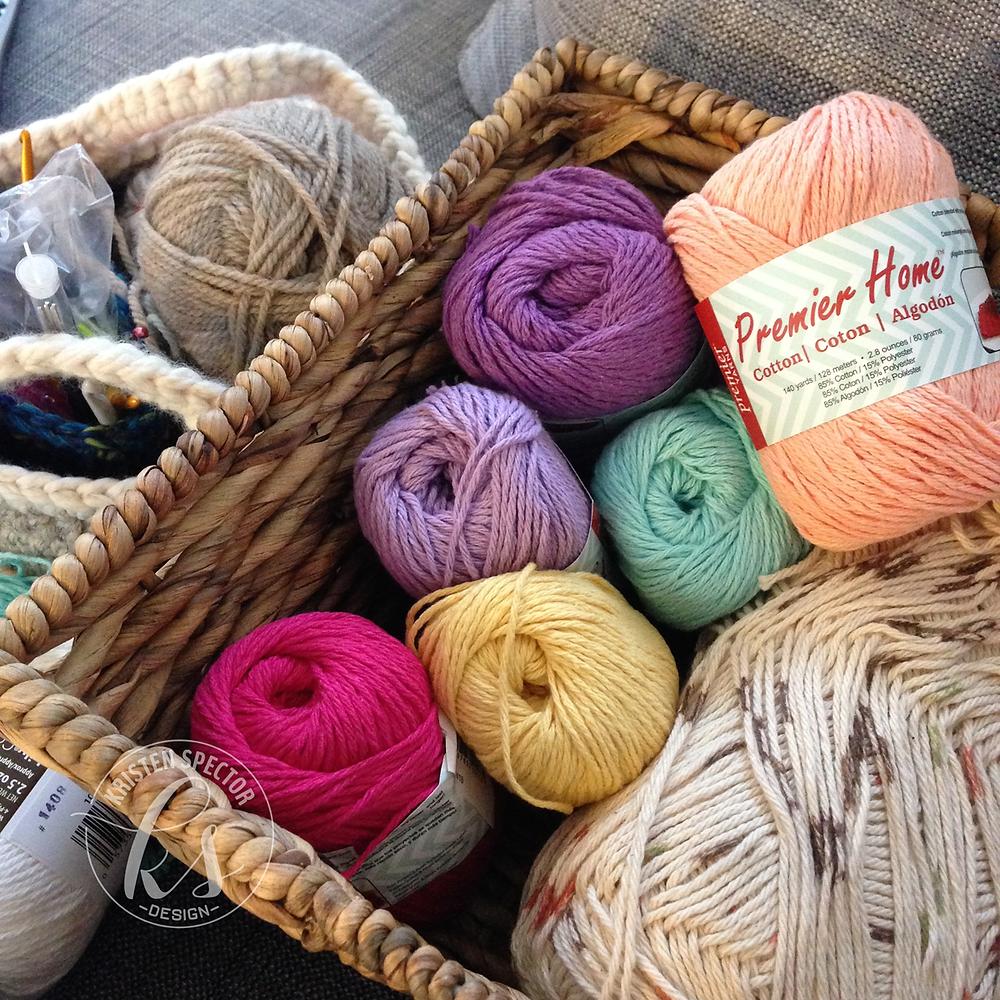 100 Crafty Days, Day 58 New Yarn