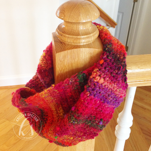 Cowl Scarf from Scrap Yarn