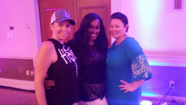 """With best friends Molly Hopkins, the """"bra whisperer,"""" and Cynthia Richards, the """"Thomas Edison"""" of custom lingerie. I crossed paths with these Double Divias"""