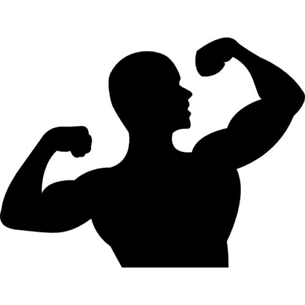 Strong upper torso icon