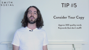 Smith Tips Video Screenshot Tip 5 Consider Your Copy