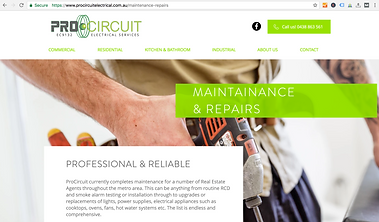 Screen Shot of Pro Circuit website, website design work done by Smith Social