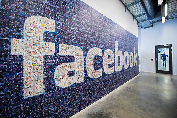 wall art facebook logo