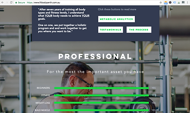 Screen Shot of Fitbodz website, website design work by Smith Social