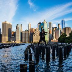 Violin Rooftop 2. Film Piece NYC.