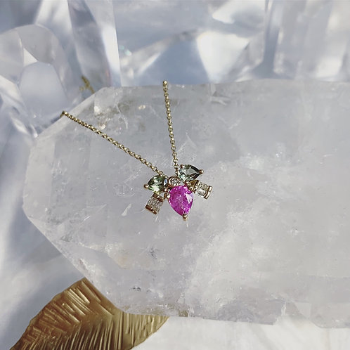 MUSKA Necklace - Pink Rose