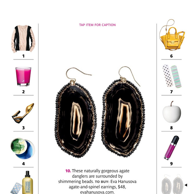 Spinel Agate Slice Earrings