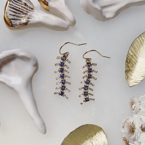 CENTIPEDE Earrings - Blue