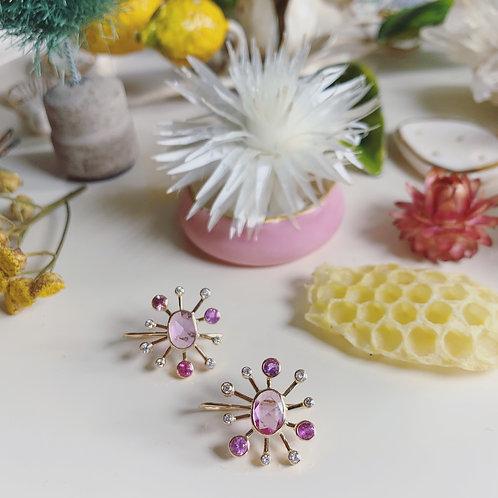 SUNDEW PINK SAPPHIRE Earrings