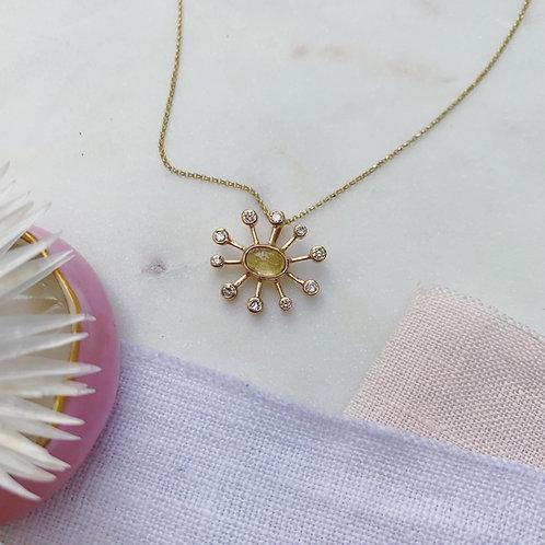 DANDELION Necklace - YELLOW