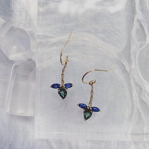 WATERLILY Earrings - Blue