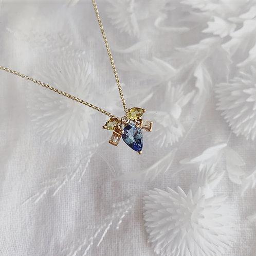 MUSKA Necklace - Blue Dew