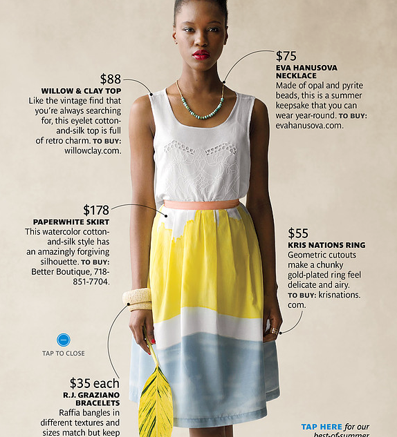 Real Simple Magazine - necklace