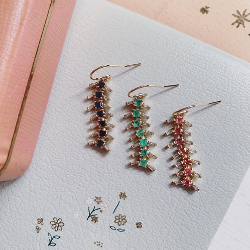 SINGLE CENTIPEDE Earrings  CUSTOM