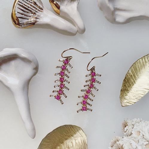 CENTIPEDE Earrings - Pink