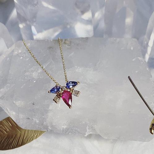MUSKA Necklace - Fuchsia Love