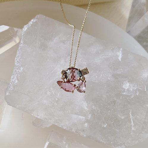 FLOR Necklace - Blush