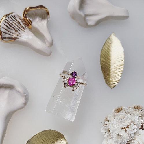 ROYAL BEETLE Ring - PINK SAPPHIRE