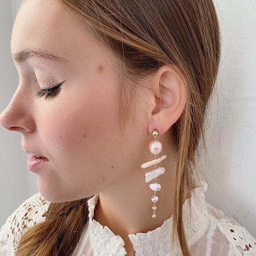 BIRCH Pearl Earrings - A