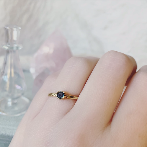 SINGLE Tourmaline Ring - Blue