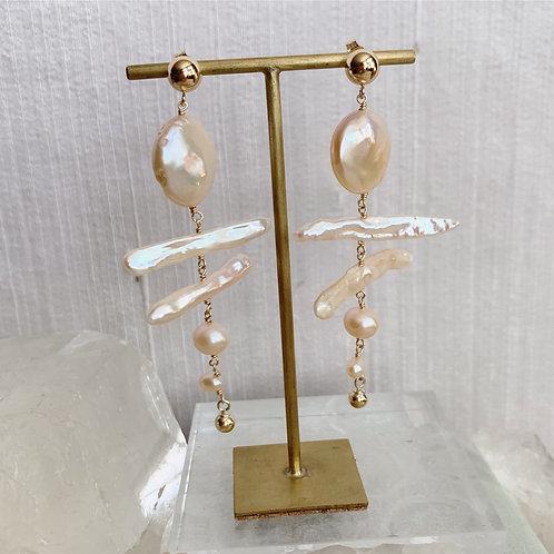 BIRCH Pearl Earrings - B